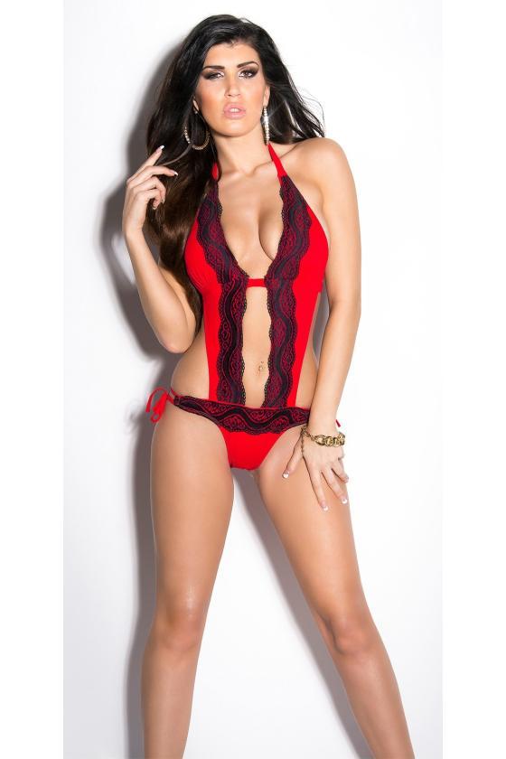 Elegantiška raudona vidutinio ilgio suknelė_201261