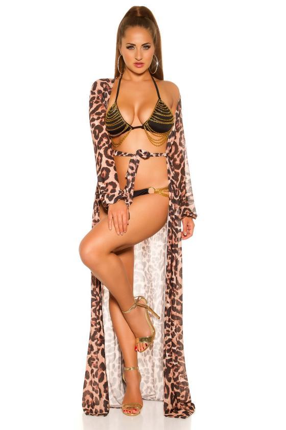 Pilkos spalvos suknelė su V formos iškirpte_202092