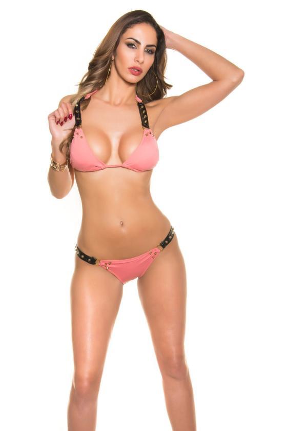 Rausvos spalvos suknelė 08241