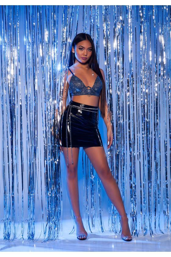 Juodos spalvos cargo modelio džinsai