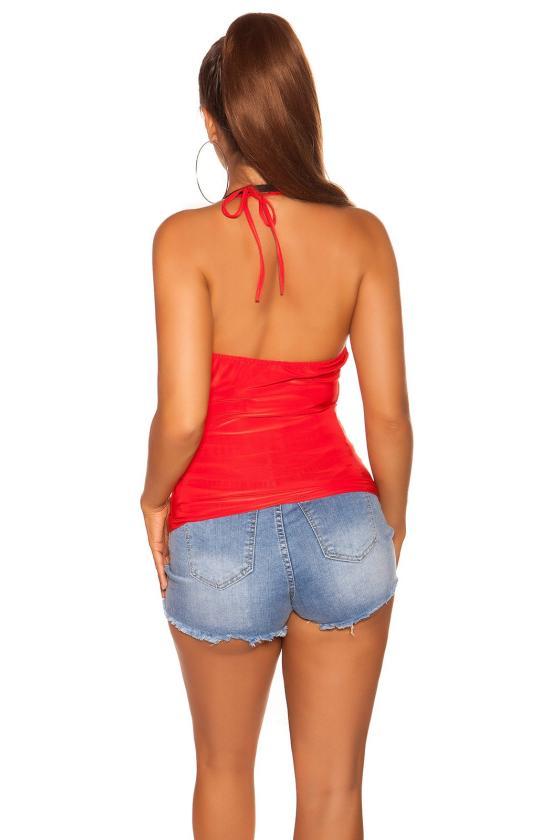 Raudonos spalvos elegantiškos kelnės_202851