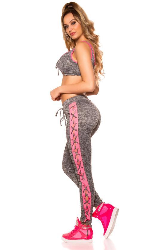 Pilkos spalvos suknelė su tiuliu FK585_202983