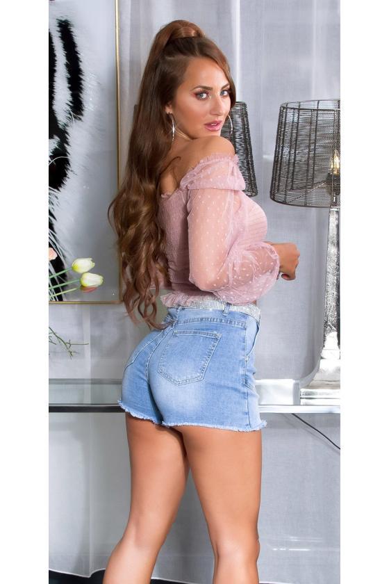Raudonos spalvos tunika su gobtuvu_203025