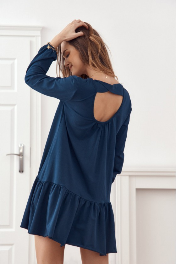 Tamsiai mėlynos spalvos suknelė FK558