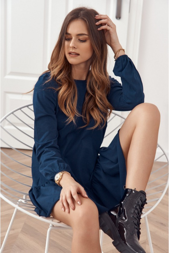 Tamsiai mėlynos spalvos suknelė FK558_203388