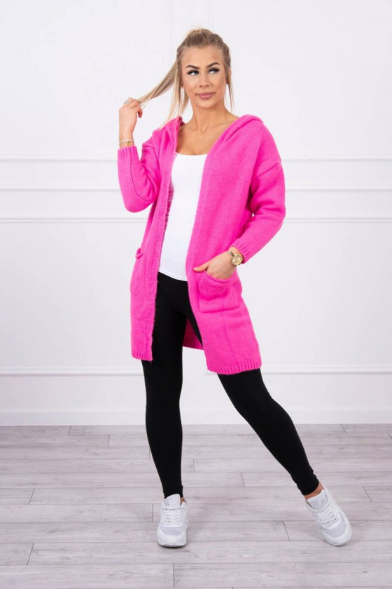 Neoninės rožinės spalvos kardiganas 2020-10_203684