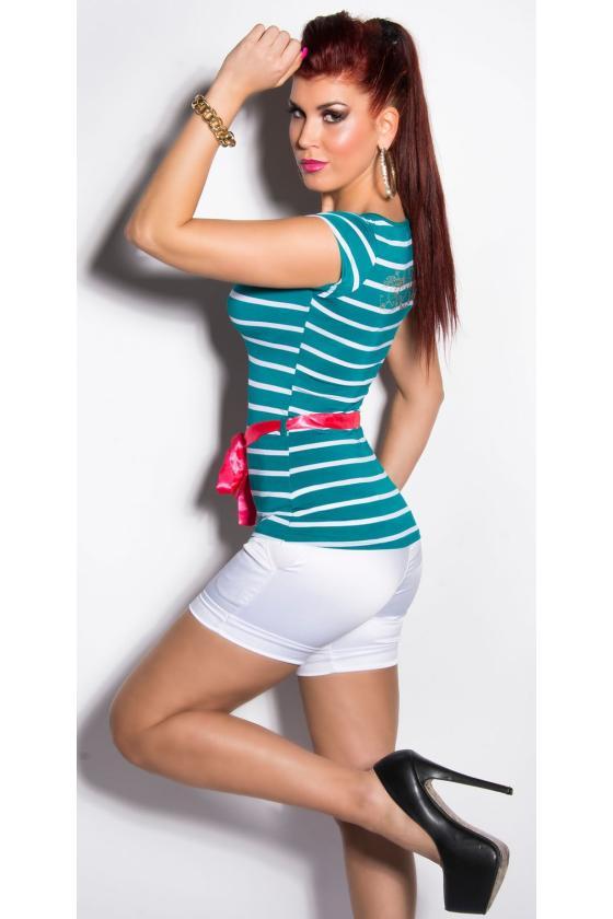 Baltos spalvos suknelė dekoruota kutais_203812