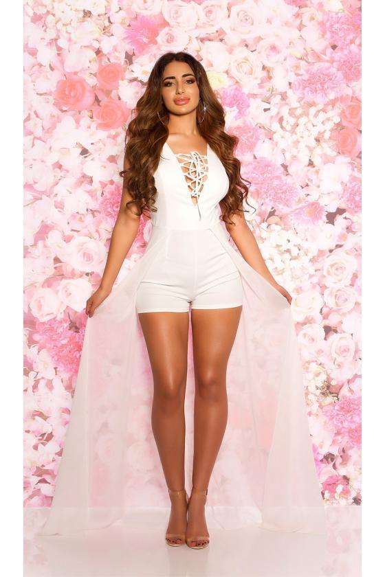 Baltos spalvos ilga suknelė 8984