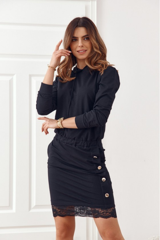 Juodos spalvos suknelė FI594