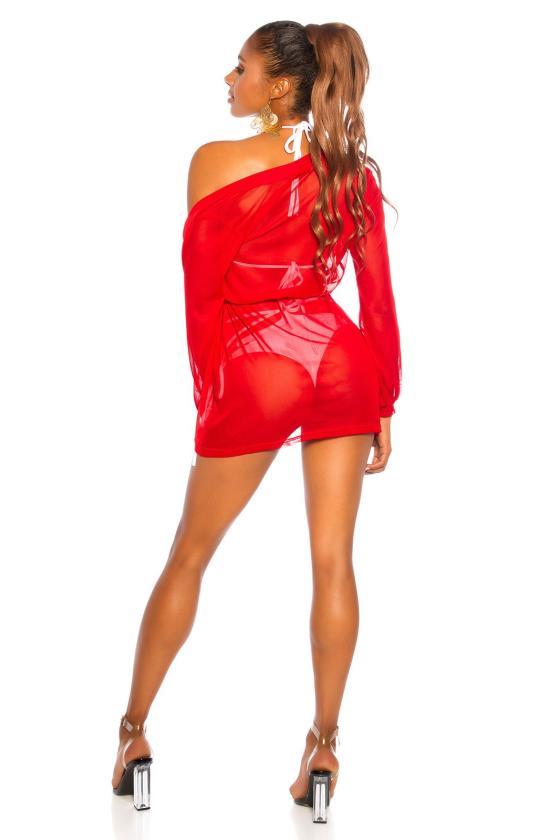 Juodos spalvos drugelio formos suknelė FG581_204790