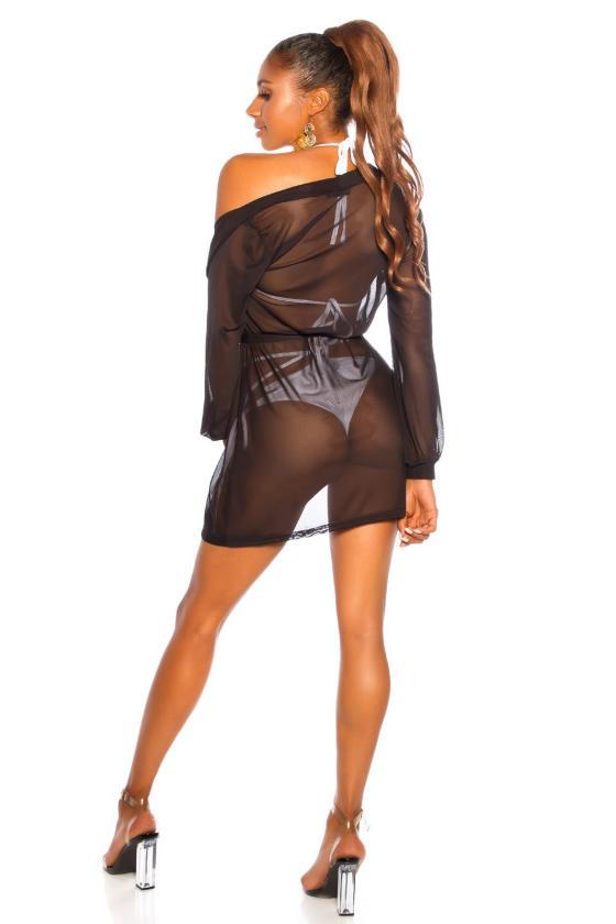 Juodos spalvos laisvalaikio suknelė FI636_204808