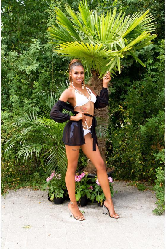 Juodos spalvos laisvalaikio suknelė FI636
