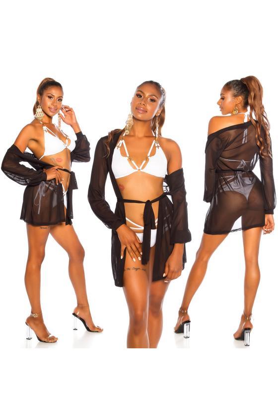 Smėlio spalvos laisvalaikio suknelė FI636_204814