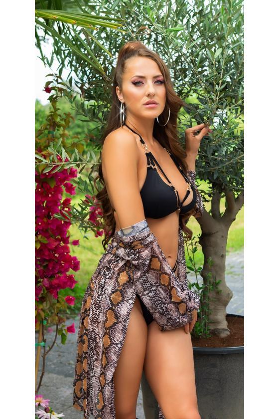 Smėlio spalvos laisvalaikio suknelė FI636