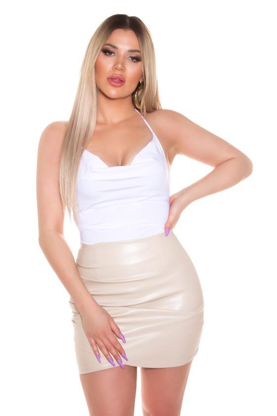Smėlio spalvos maxi satininė suknelė_205201