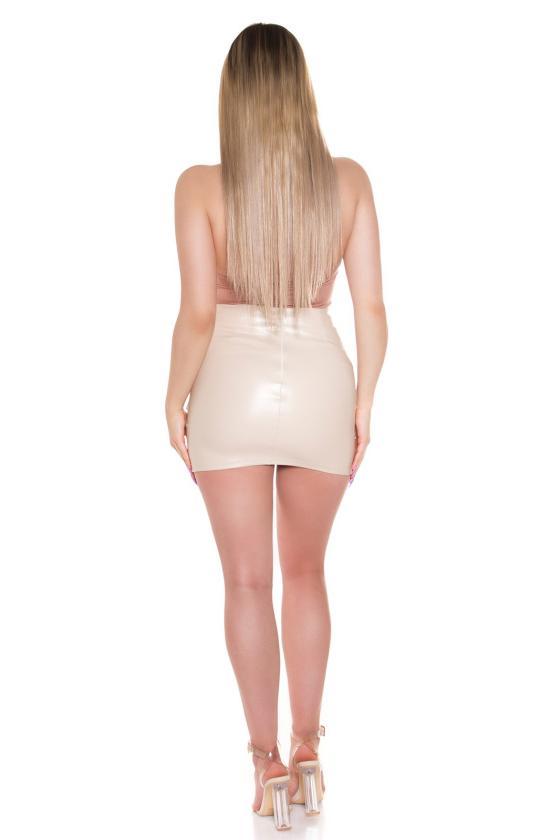 Mėtų spalvos maxi satininė suknelė_205203