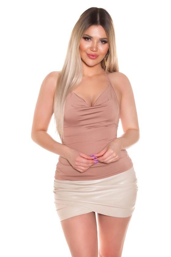 Mėtų spalvos maxi satininė suknelė_205204