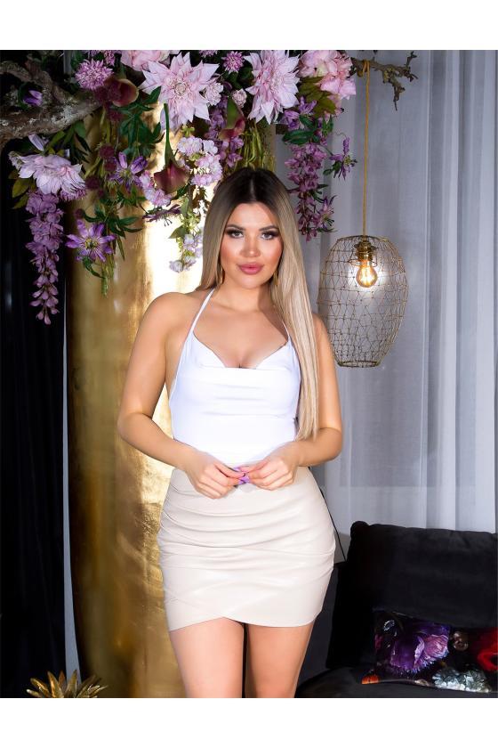 Mėtų spalvos maxi satininė suknelė