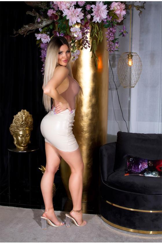 Rausvos spalvos maxi satininė suknelė_205206