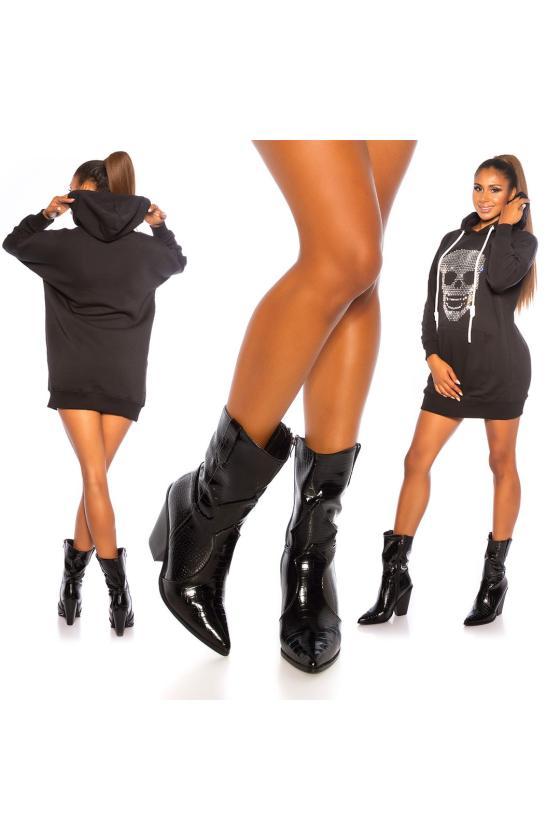 Rausvos spalvos suknelė atvirais pečiais_205857
