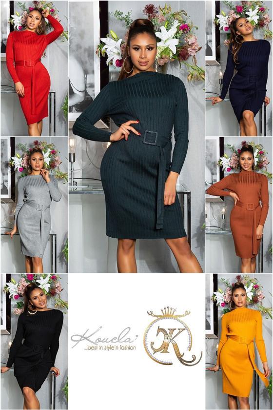 Rausvos spalvos suknelė atvirais pečiais_205858