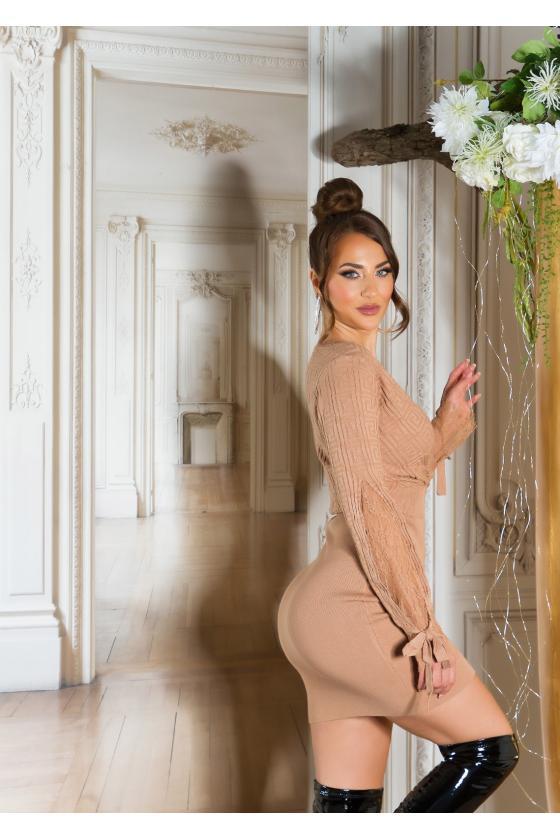 Mėtų spalvos aukšto liemens džinsai