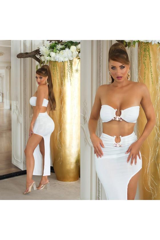 Tamsiai mėlynos spalvos džinsai su nėriniais_207375