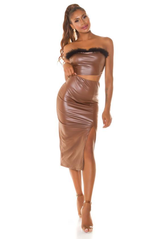 Mėlynos spalvos plėšyti džinsai su kristalais_207433