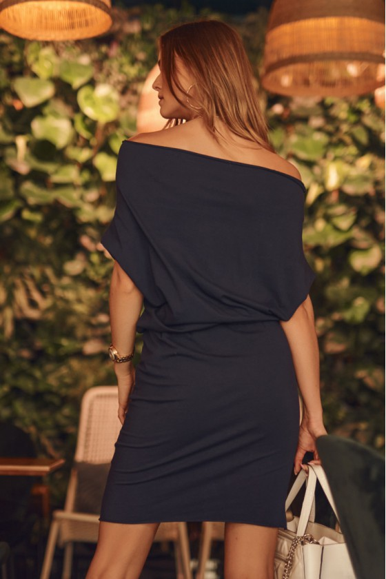 Tamsiai mėlynos spalvos laisvalaikio suknelė 9978_208962