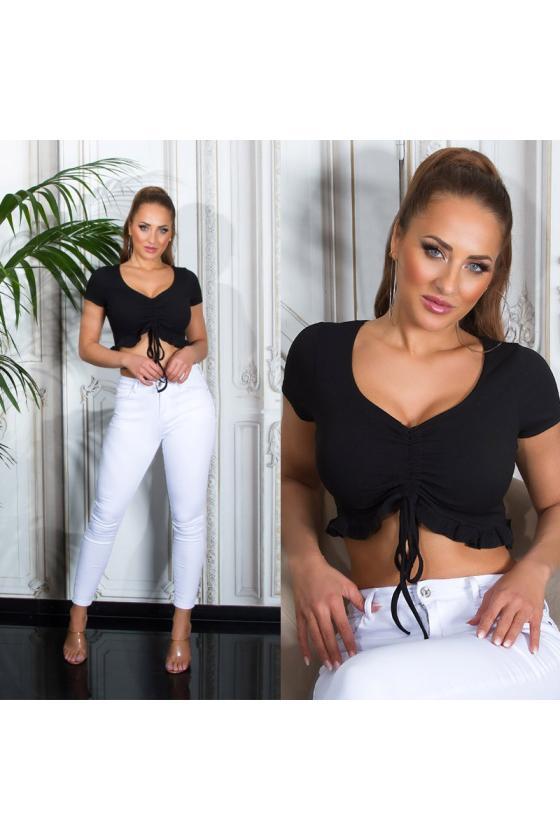 Elegantiška juoda suknelė su V formos iškirpte_209081