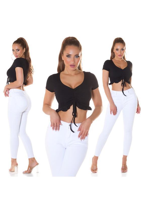 Elegantiška juoda suknelė su V formos iškirpte_209083