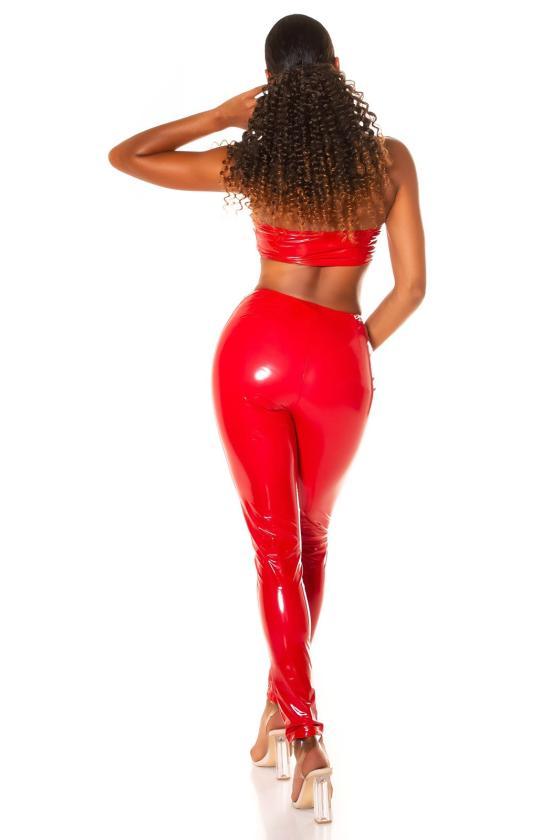 Rausvos spalvos suknelė su dekoratyvia juostele_209149