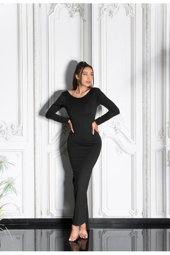 Mėlynos spalvos suknelė su nėriniais_209213