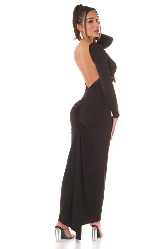Mėlynos spalvos suknelė su nėriniais_209214