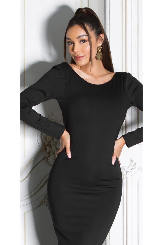 Mėlynos spalvos suknelė su nėriniais