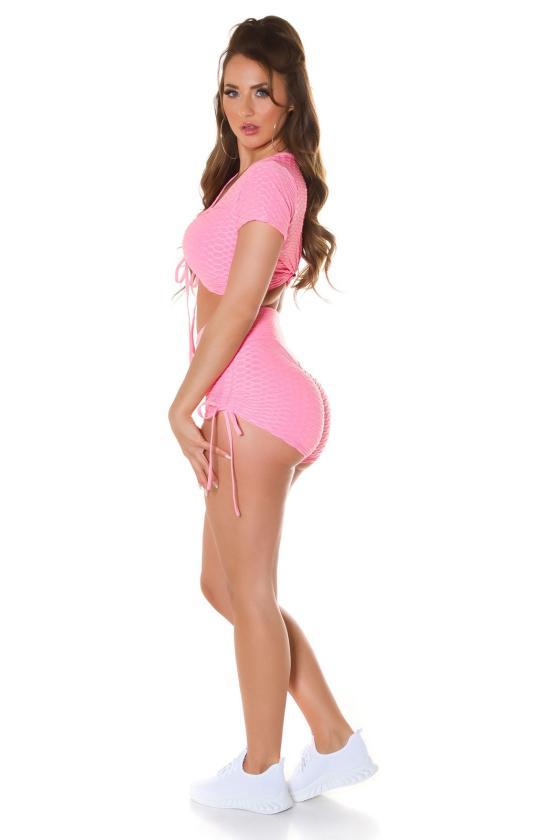 Juodos spalvos sijonas dekoruotas sagomis