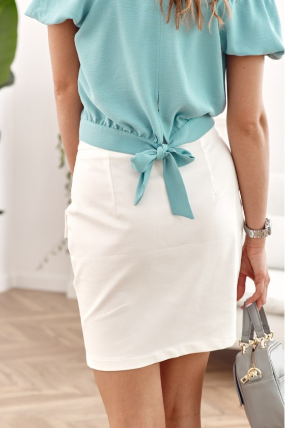 Baltos spalvos sijonas dekoruotas sagomis_209263