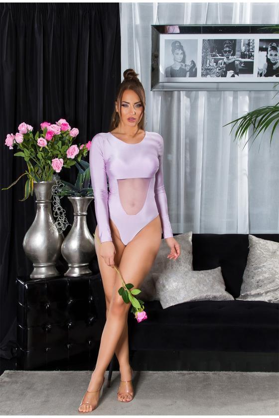 Juodos spalvos odos imitacijos kelnės_209374