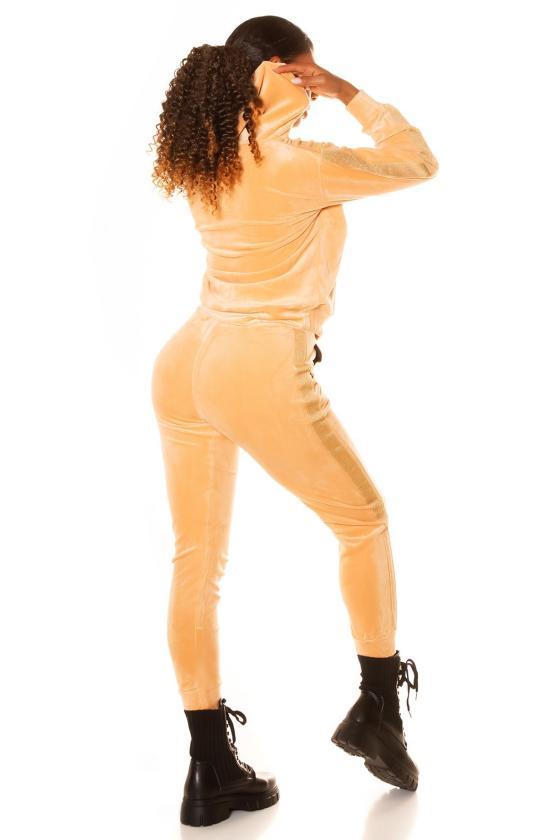 Geltonos spalvos suknelė ant petnešėlių FG604
