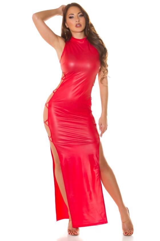 Rausvos spalvos suknelė 2212 Bicotone_212166