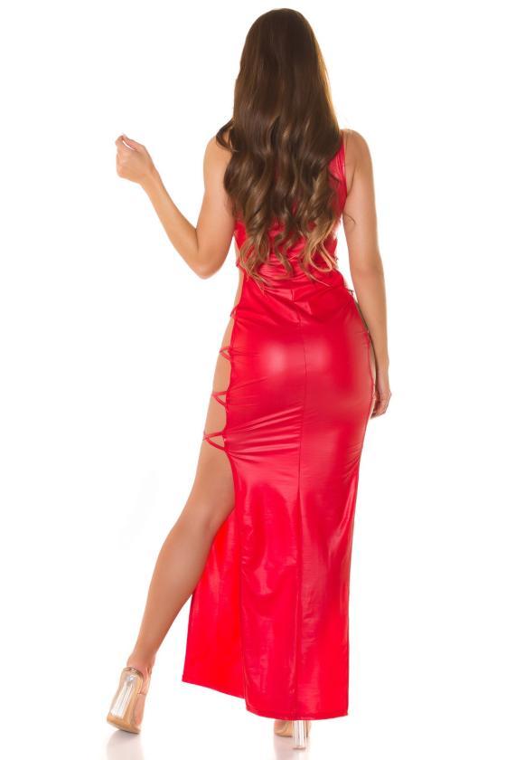 Rausvos spalvos suknelė 2212 Bicotone