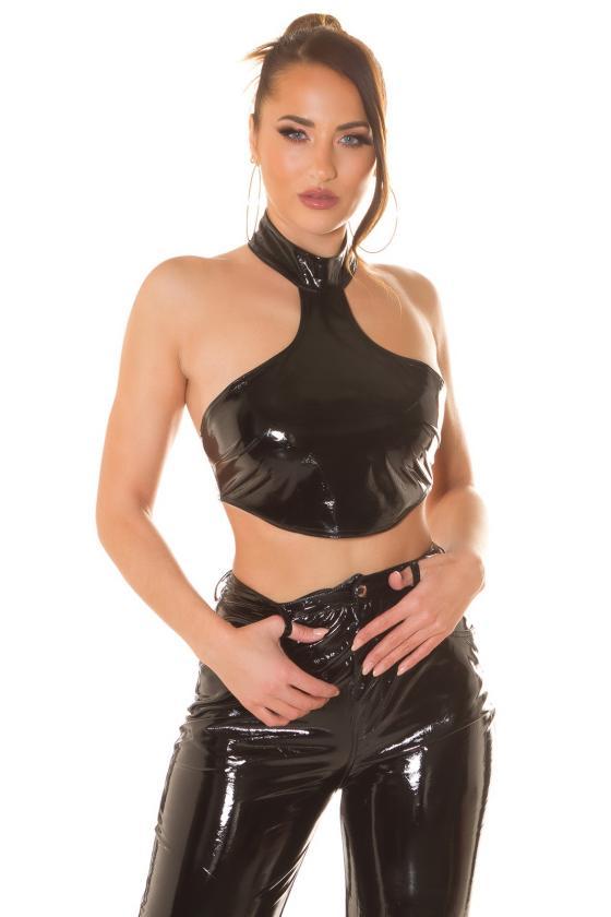 Mėlynos spalvos trumpinti džinsai žemu liemeniu_212505