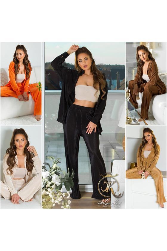 Juodos spalvos trumpas odos imitacijos sijonas_213214