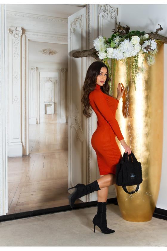Tamsiai mėlynos spalvos suknelė 2180 Bicotone_213295