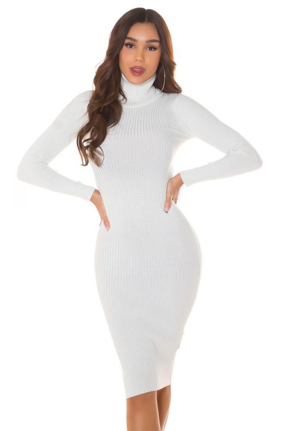 Rausvos spalvos suknelė 2222 Bicotone_213364