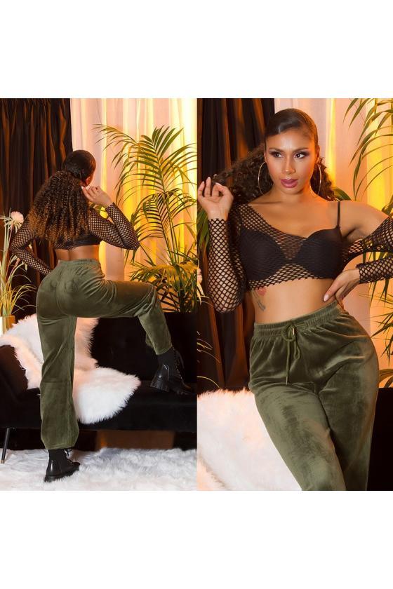 Juodos spalvos latekso imitacijos sijonas