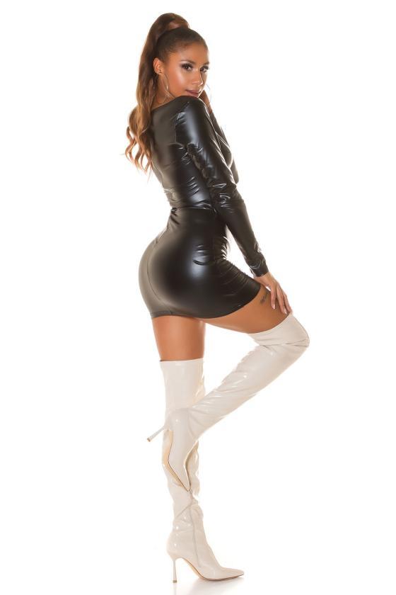 Pilkos spalvos džinsai aukštu juosmeniu_214527