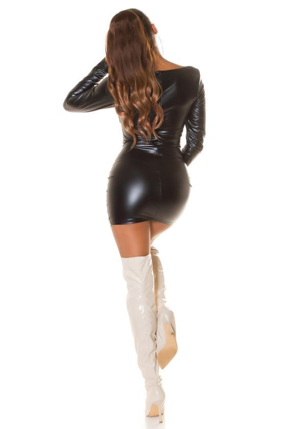 Juodos spalvos džinsai aukštu juosmeniu_214535