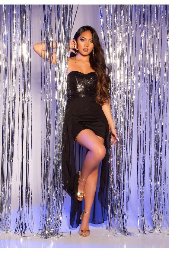 Mėlynos spalvos plėšyti plius dydžių džinsai_215068