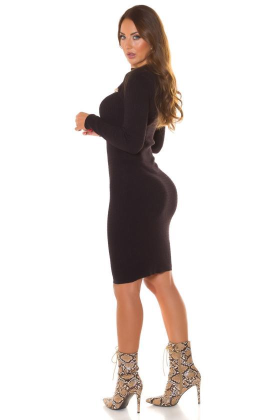 Mėlynos spalvos plėšyti plius dydžių džinsai_215070